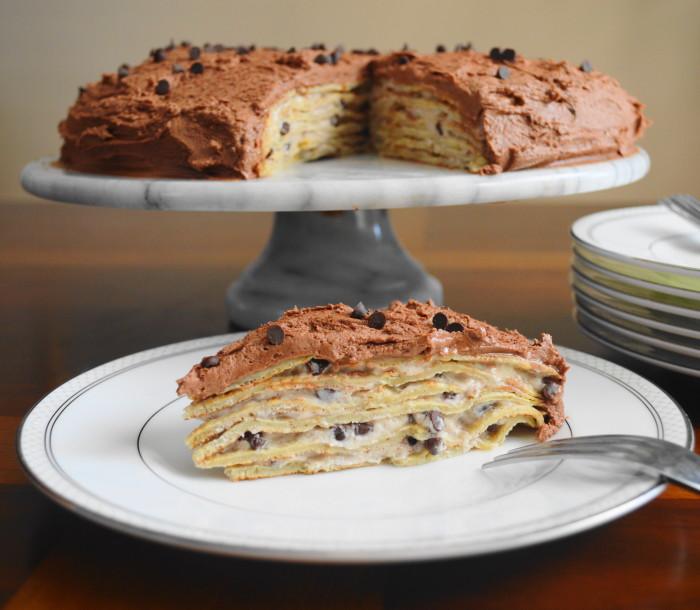 Cannoli Crepe Cake