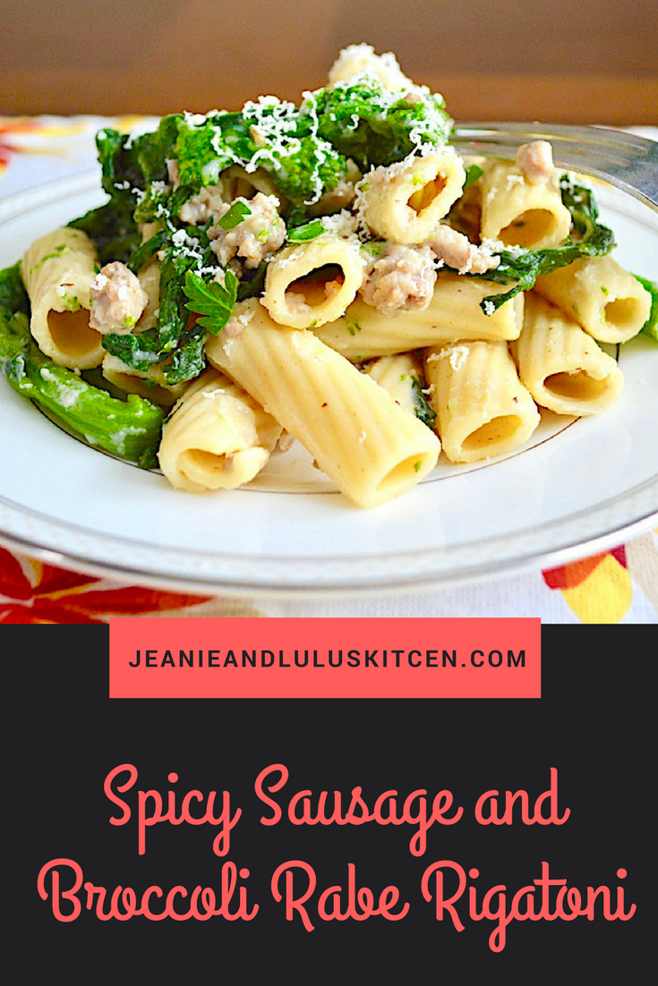 Spicy Sausage and Broccoli Rabe Rigatoni