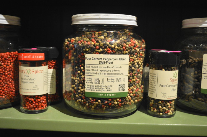 The selection of peppercorns alone at Savory Spice Shop was enough to make me so happy!