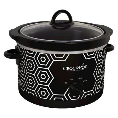 This slow cooker is 4.5 quarts which is good for about 5-6 people. I love this pretty design! Hope you all will too. Good luck!! xoxo