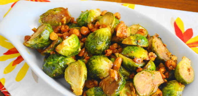 Asian Cashew Roasted Brussel Sprouts