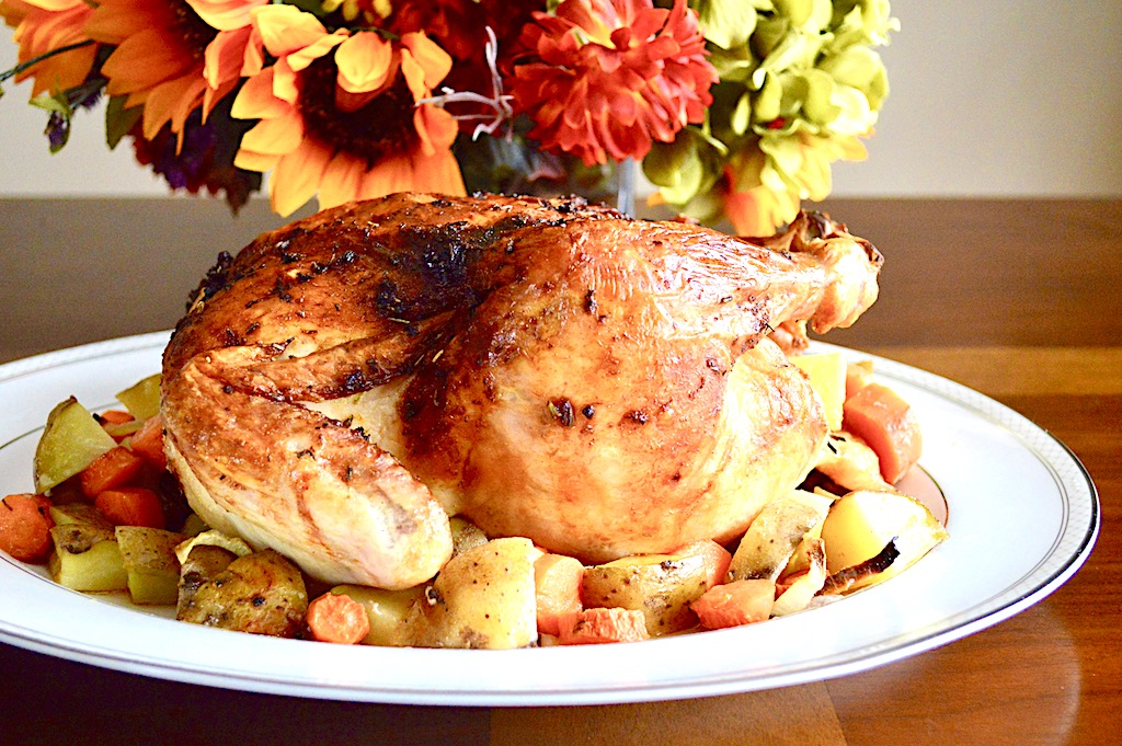 Orange Lavender Whole Roasted Chicken