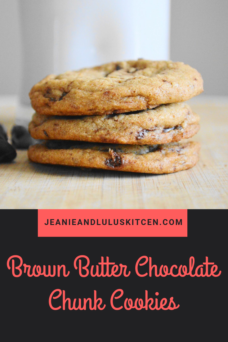 Brown Butter Chocolate Chunk Cookies