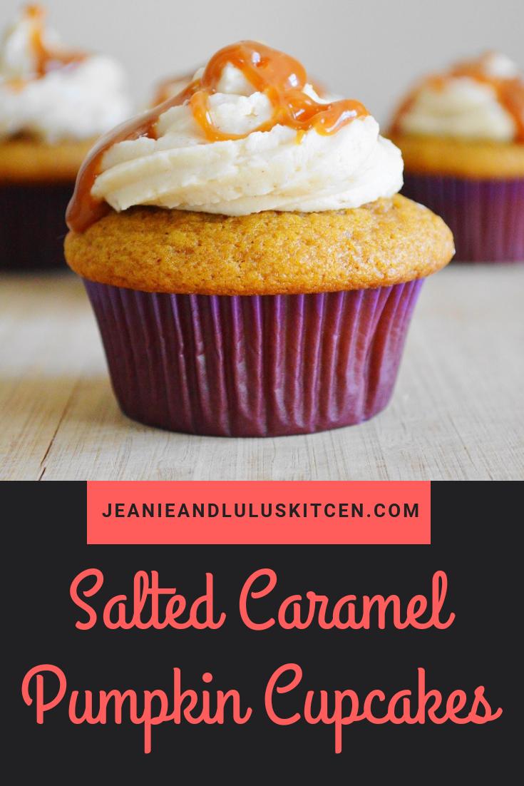 Salted Caramel Pumpkin Cupcakes
