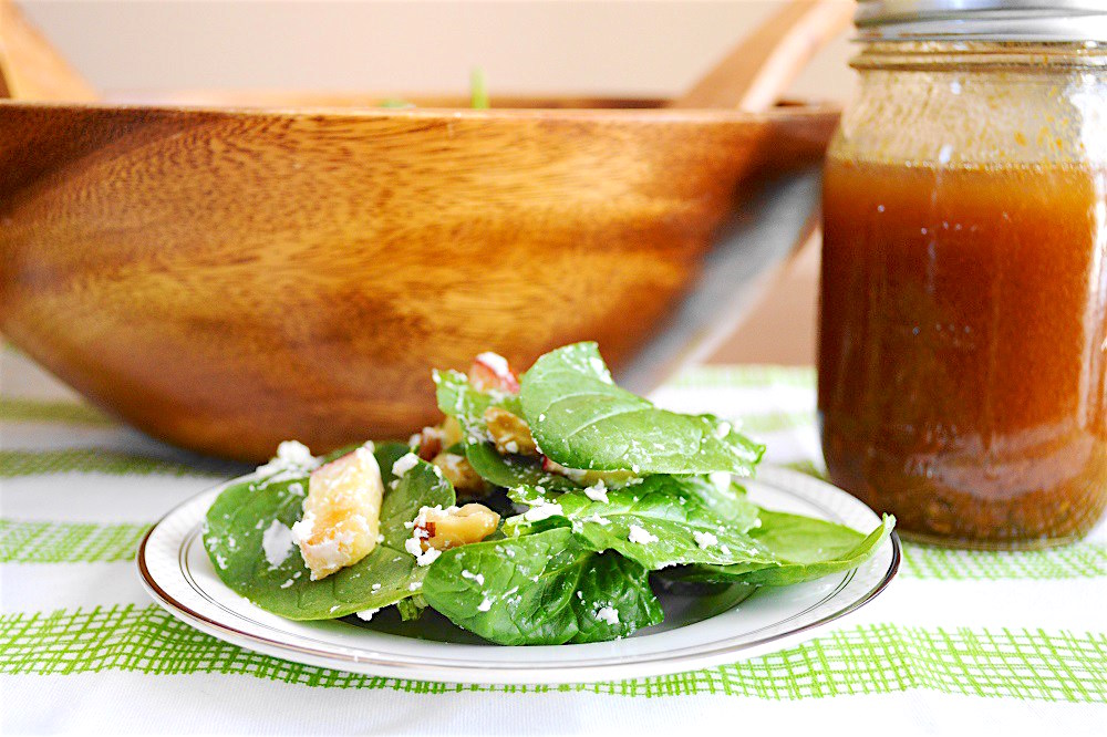 Warm Apple, Walnut and Goat Cheese Salad