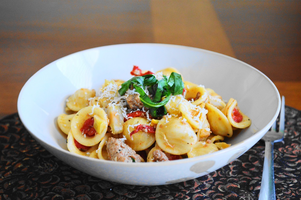 Turkey Sausage and Fennel Orecchiette