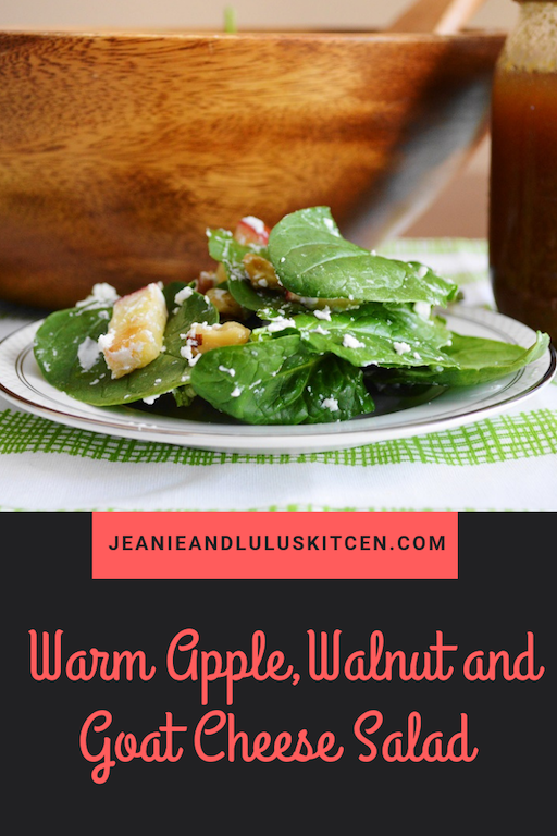 Warm Apple, Walnut and Goat Cheese Salad