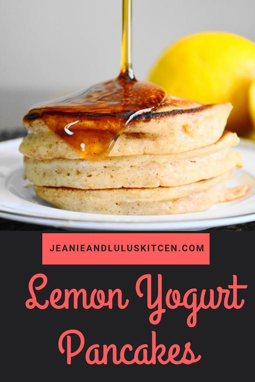 Lemon Yogurt Pancakes