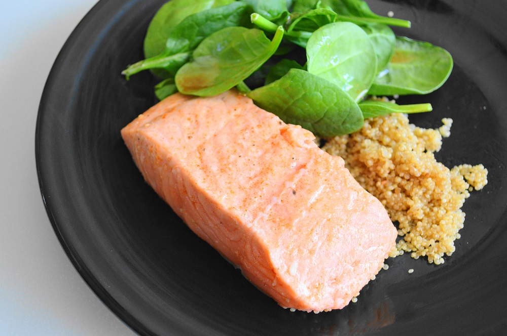 Maple Bourbon Broiled Salmon