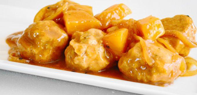 Slow Cooker Hawaiian Chicken Meatballs