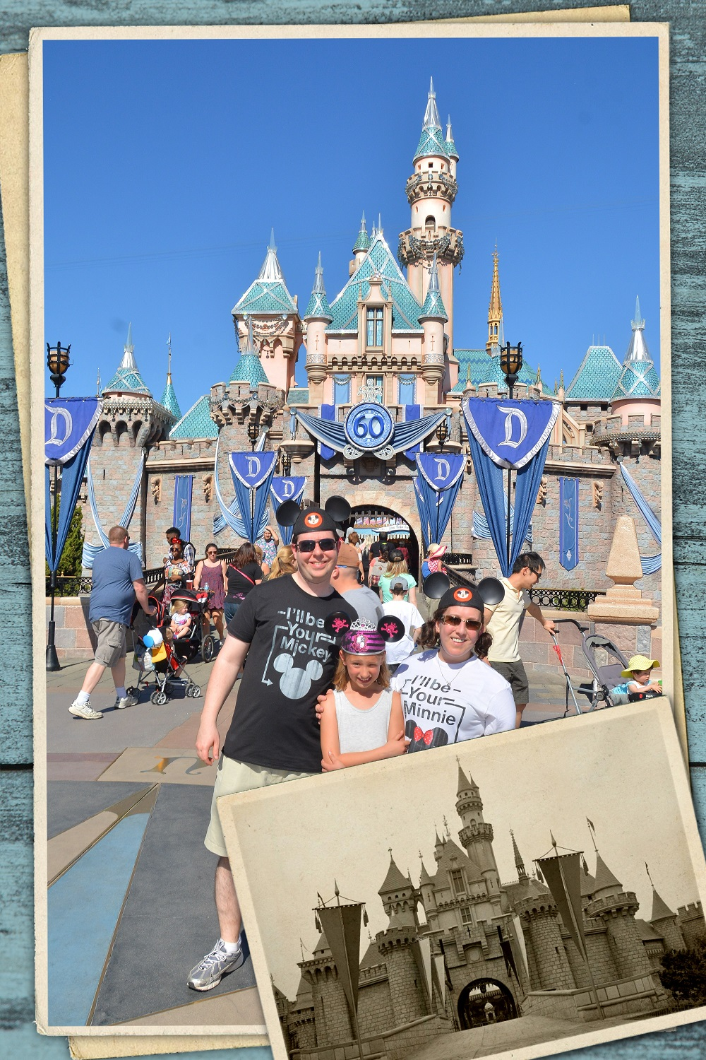We had to get a photo in front of Sleeping Beauty's castle in Disneyland too!