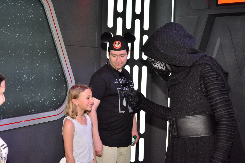 She has recently discovered Star Wars, so all of the new Star Wars attractions in Disneyland were a must. She couldn't contain the giggles as Kylo Ren tried to bring her to the dark side.