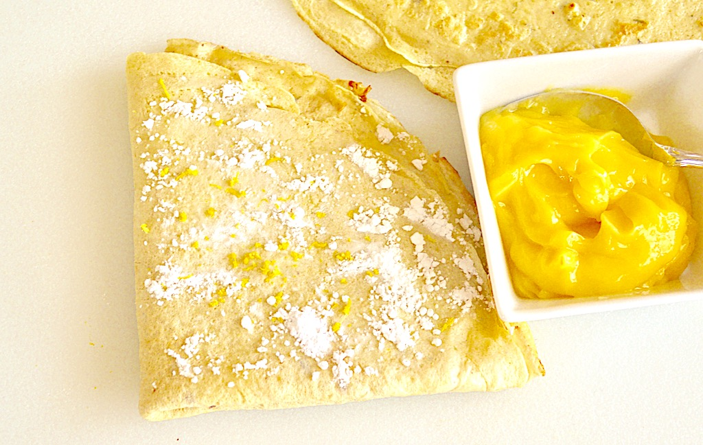 Lavender Lemon Curd Crepes