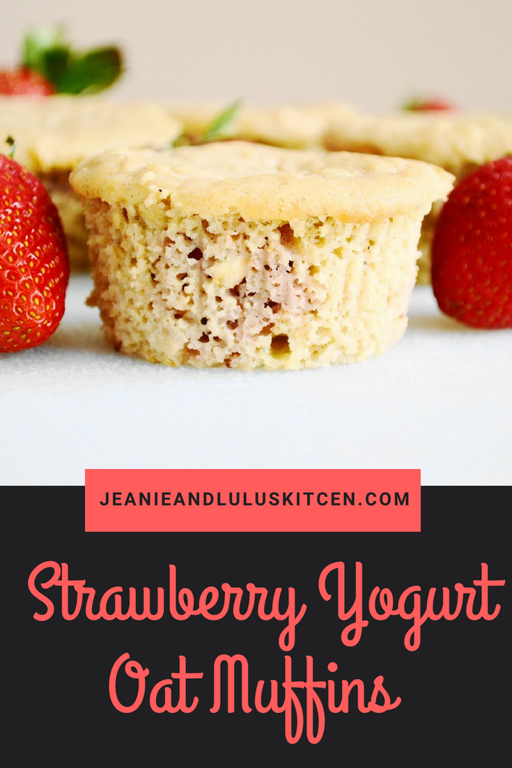 Strawberry Yogurt Oat Muffins