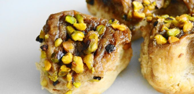 Pistachio, Lavender and Honey Sticky Buns