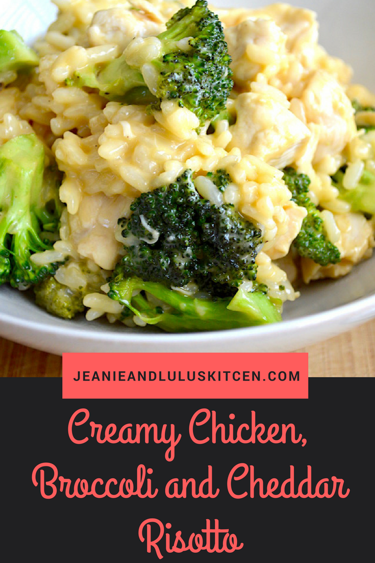 Chicken, Broccoli and Cheddar Risotto