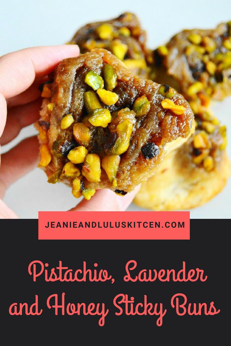 Pistachio, Lavender and Honey Sticky Buns