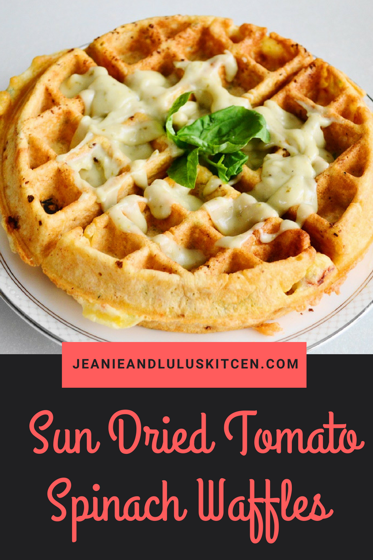 Sun Dried Tomato Spinach Waffles