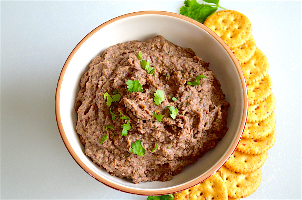 Roasted Eggplant Black Bean Dip