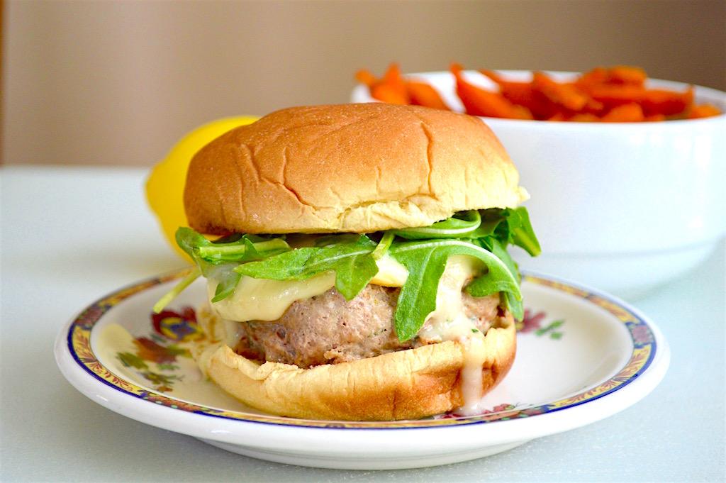 Basil Lemon Turkey Burgers