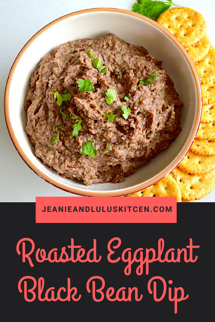 Roasted Eggplant Black Bean Dip