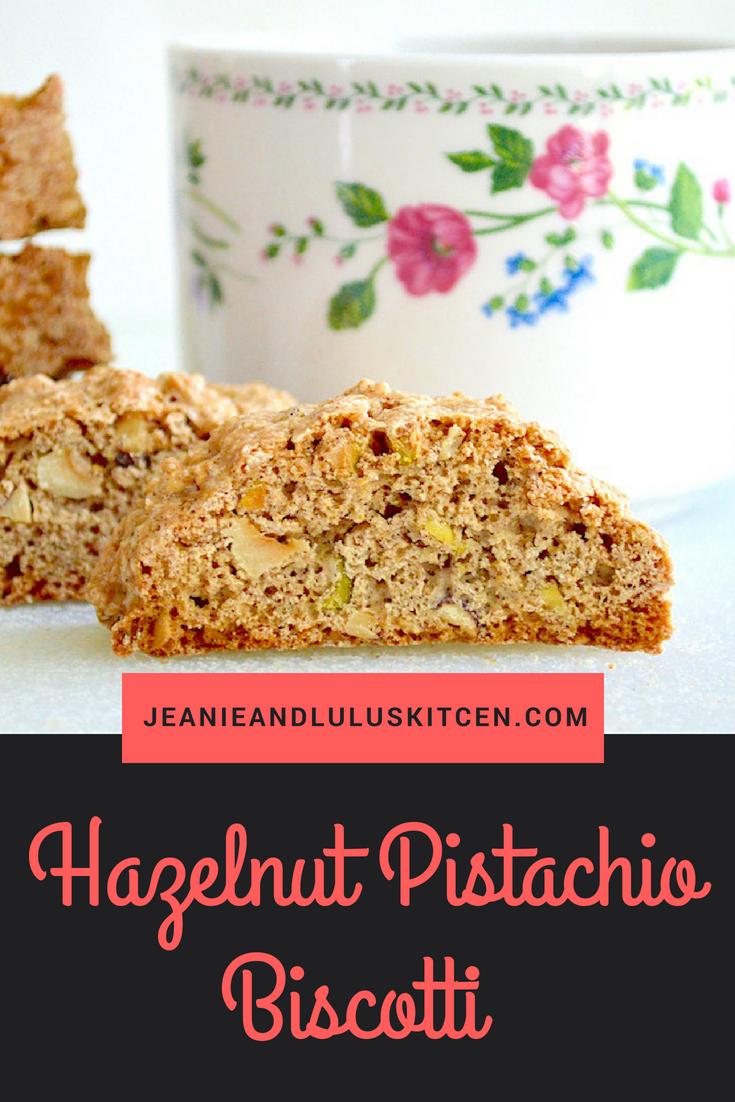 Hazelnut Pistachio Biscotti
