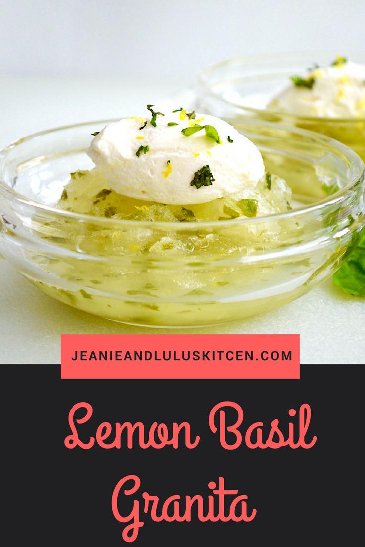 Lemon Basil Granita