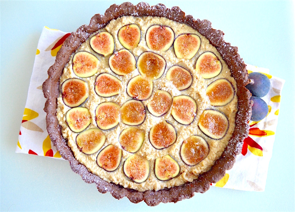 Mascarpone Fig Chocolate Tart