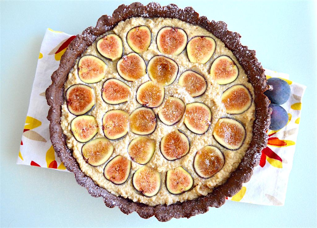 Mascarpone Fig Chocolate Tart