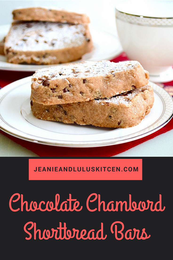 Chocolate Chambord Shortbread Bars