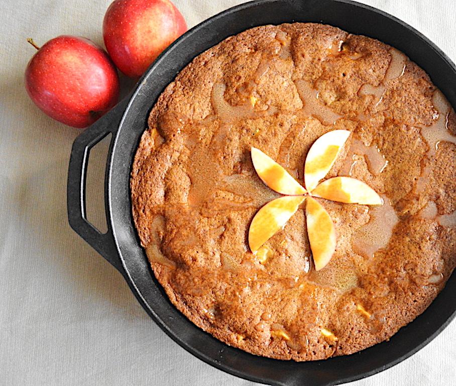 Caramel Apple Skillet Cookie