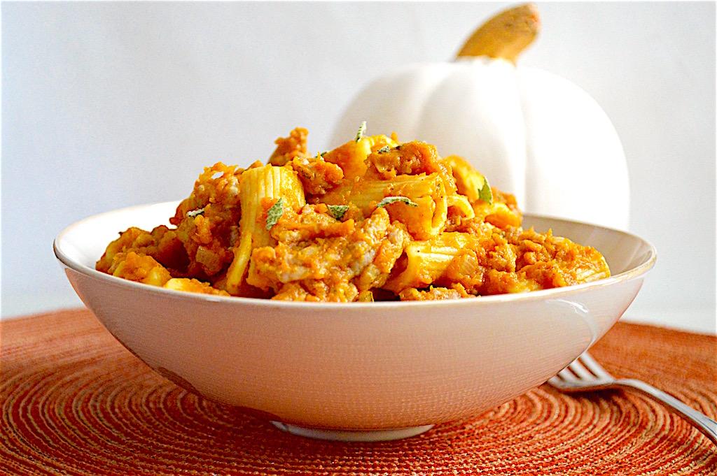 Pumpkin Sausage Rigatoni