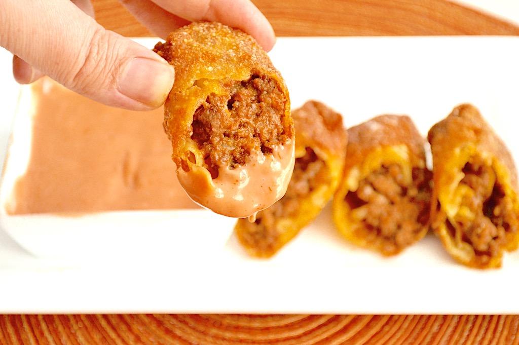 Cheeseburger Egg Rolls