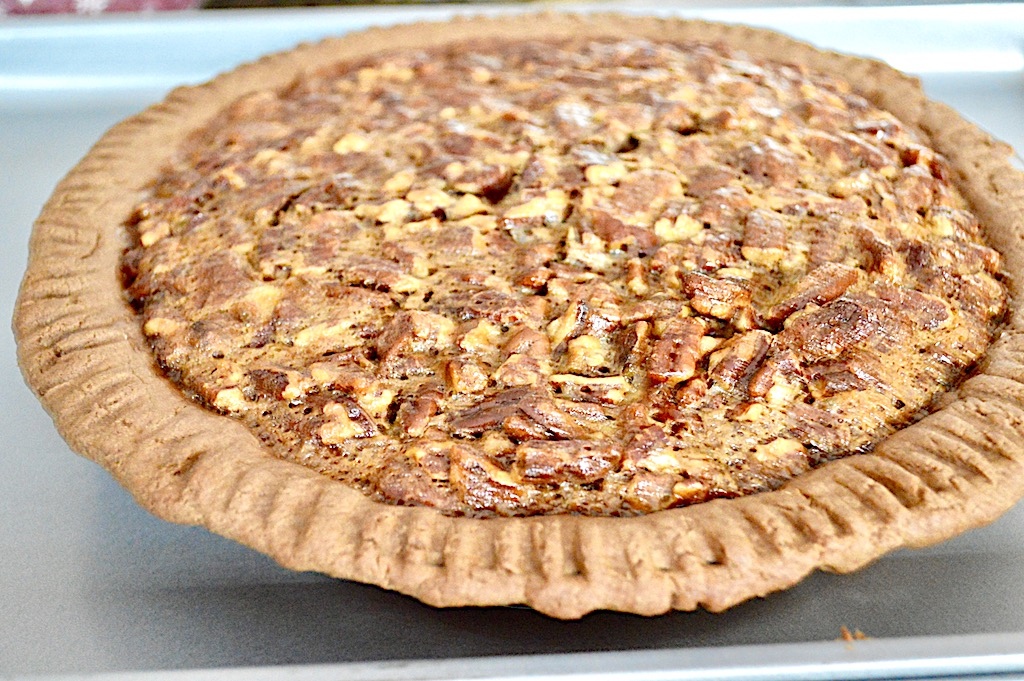 filling into my flaky crust and baked the bourbon bacon pecan pie ...