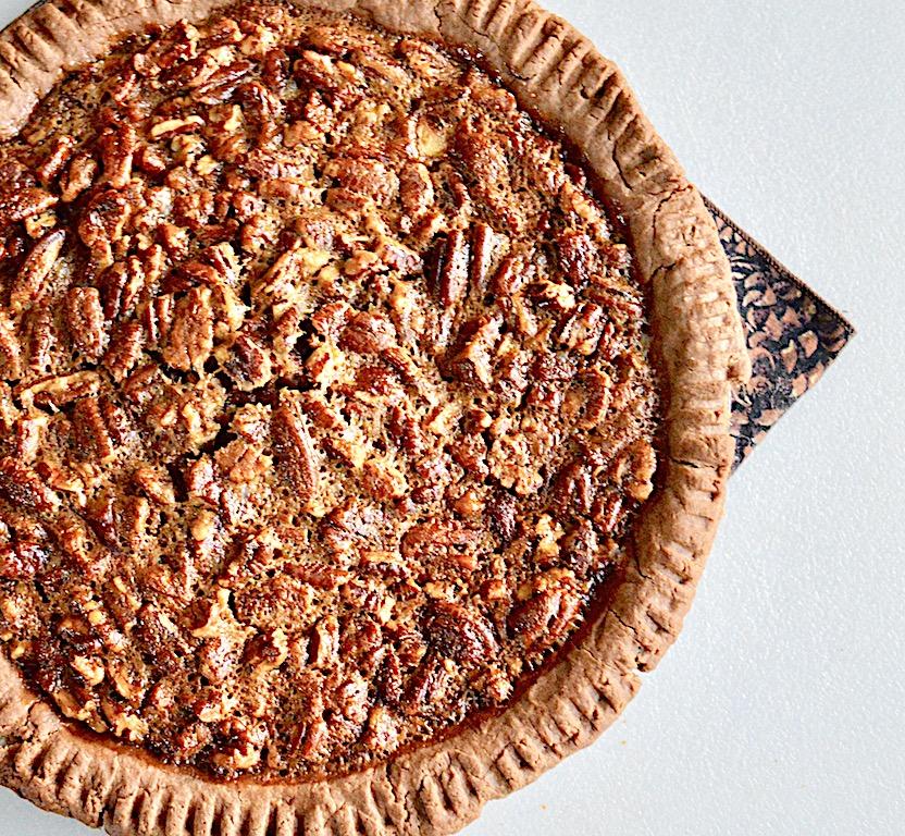 Bourbon Bacon Pecan Pie - Jeanie and Lulu's Kitchen