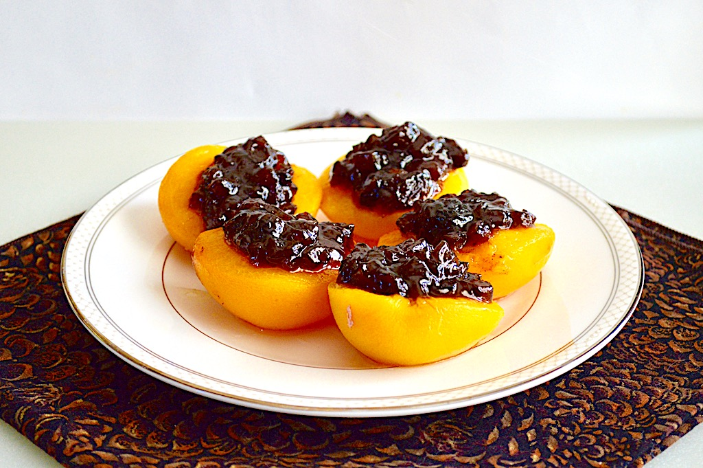 Peach Halves with Mincemeat