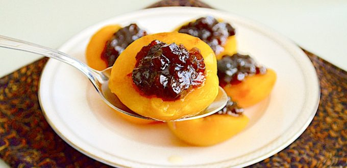 Peach Halves with Mincemeat