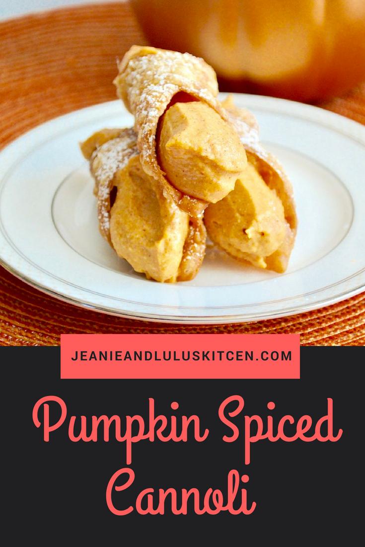 Pumpkin Spiced Cannoli