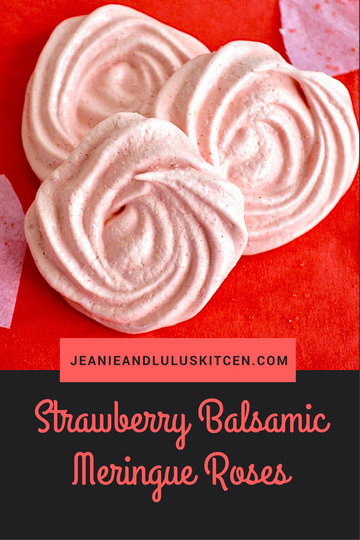 Strawberry Balsamic Meringue Roses