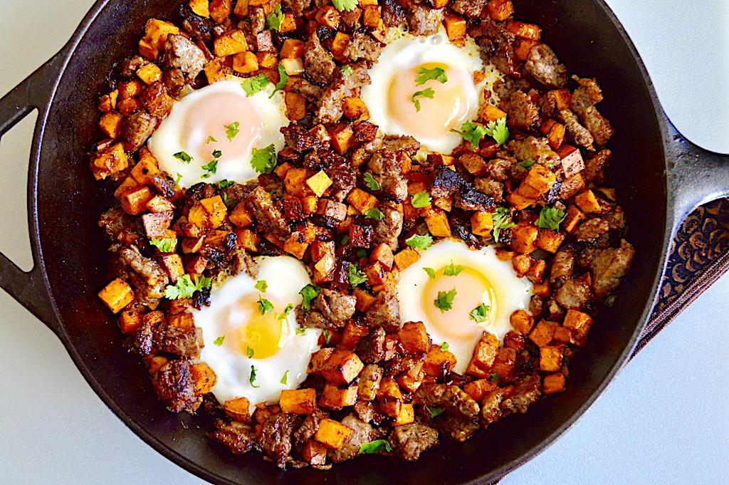 Sausage Sweet Potato Breakfast Skillet