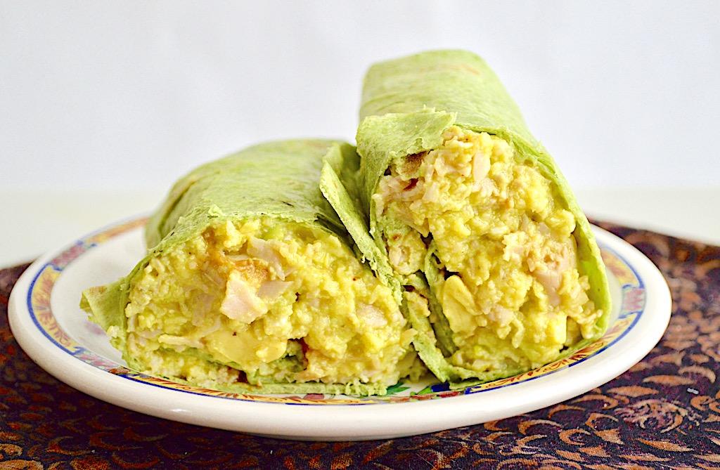 Turkey Avocado Breakfast Burrito