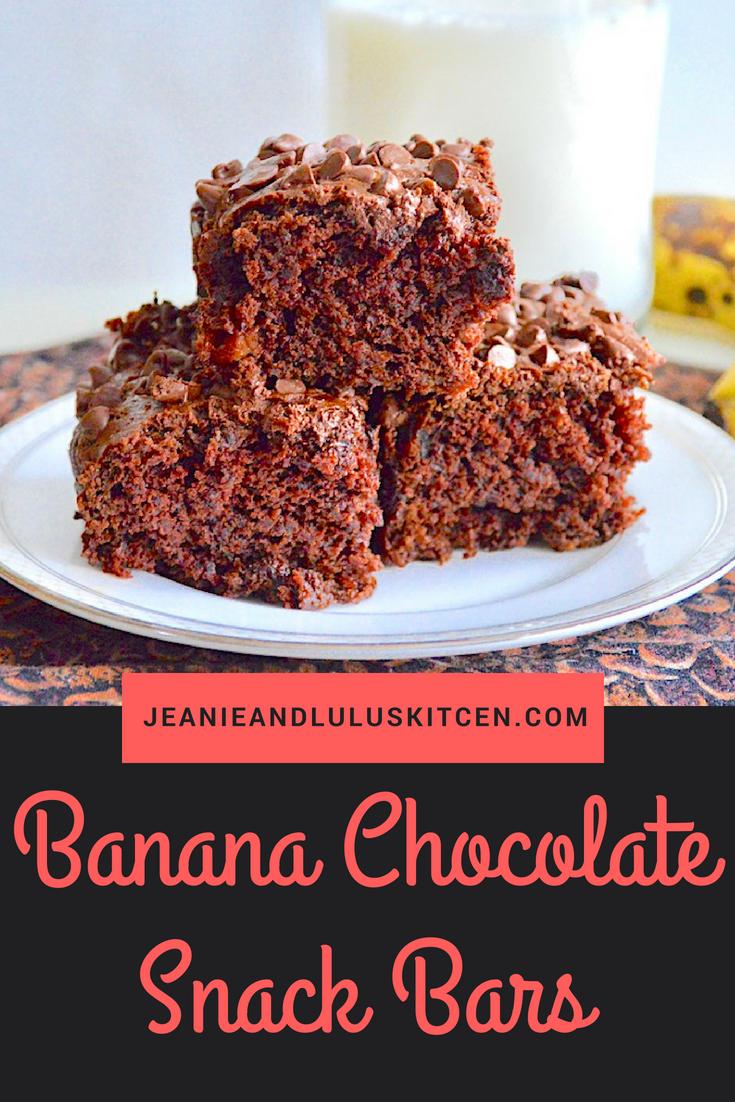 Banana Chocolate Snack Bars