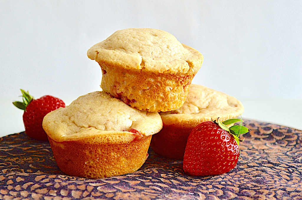 Strawberry Cream Cheese Pancake Muffins