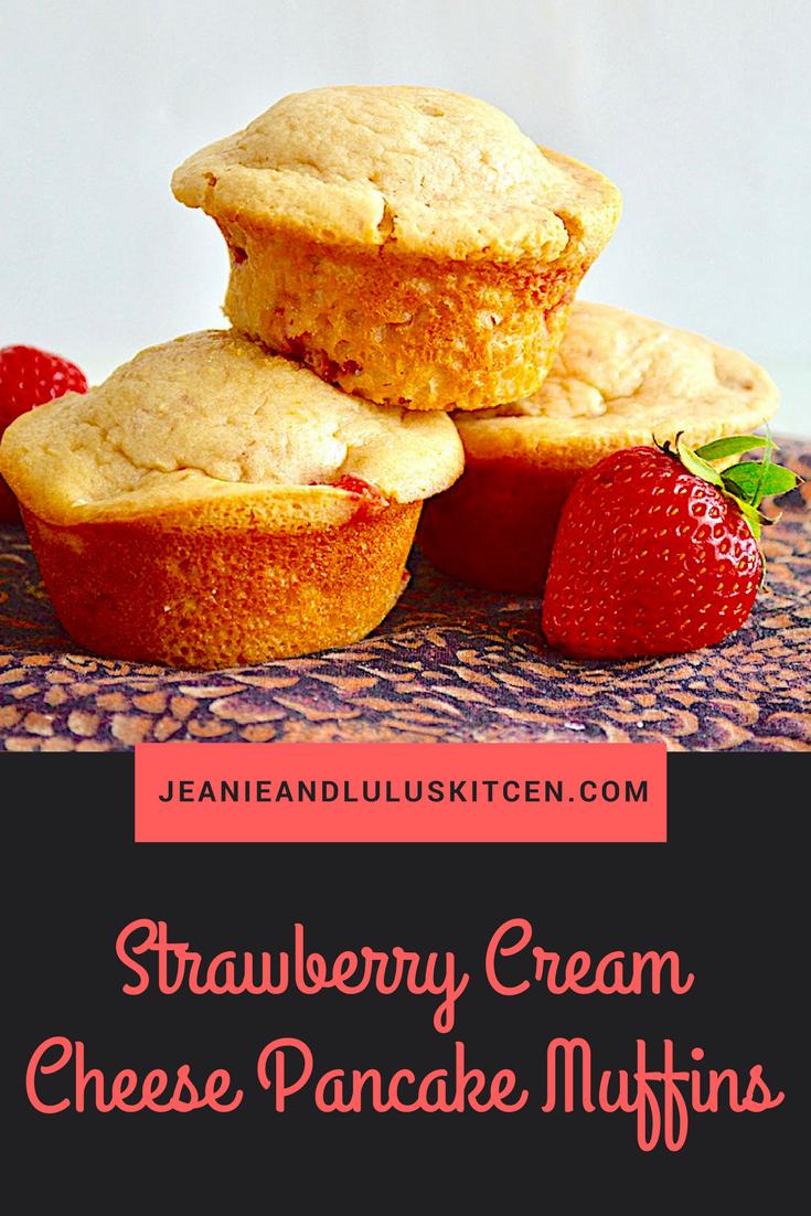 Strawberry Cream Cheese Pancake Muffins
