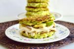 Broccoli Cheddar Griddle Cake Sandwiches