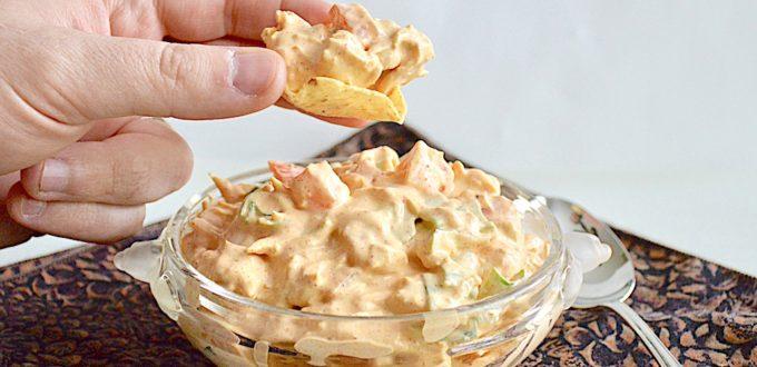 Easy Chicken Taco Dip