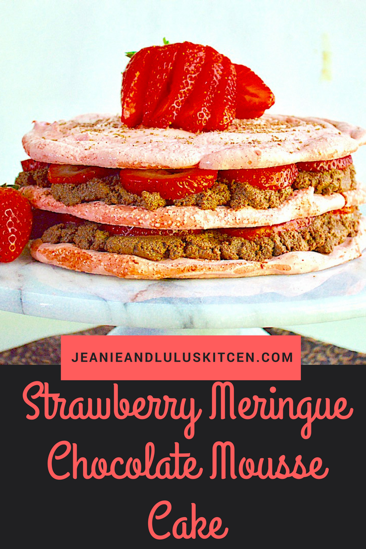 Strawberry Meringue Chocolate Mousse Cake