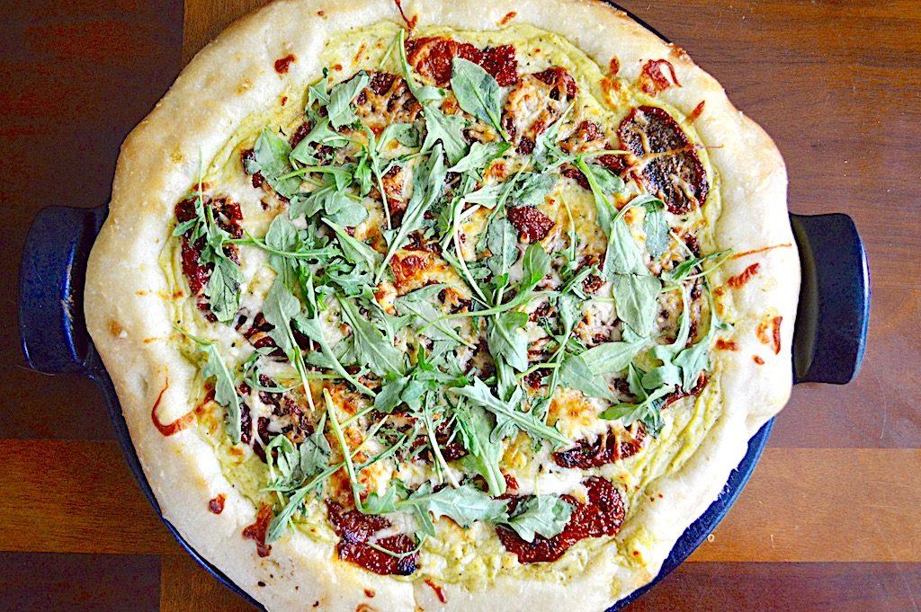 Sun-Dried Tomato Arugula White Pizza