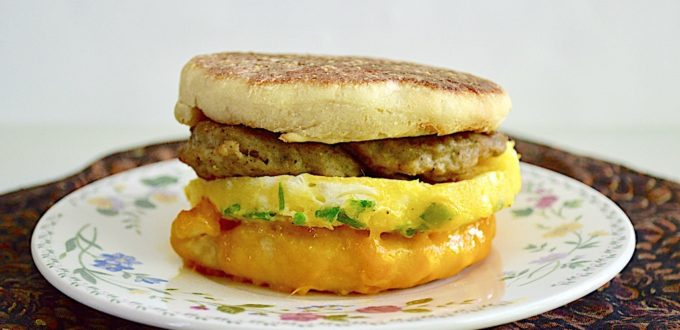 English Muffin Breakfast Sandwiches