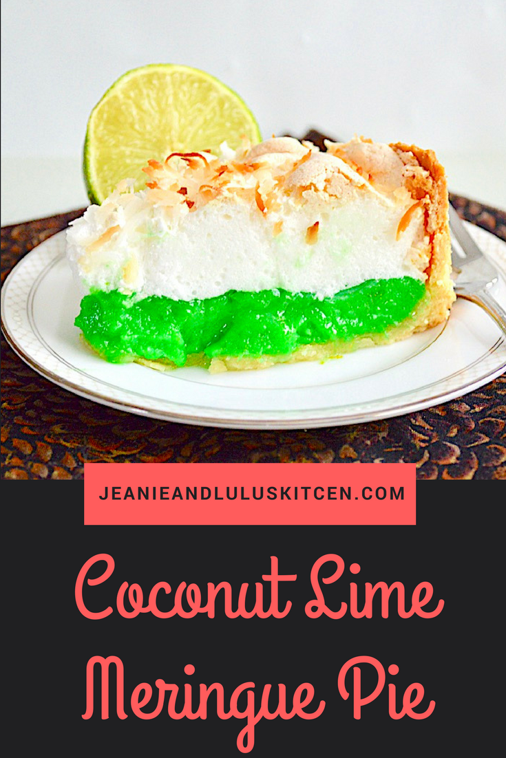 Coconut Lime Meringue Pie